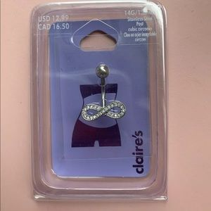 Claire's Infinity Bellybutton Ring NWT
